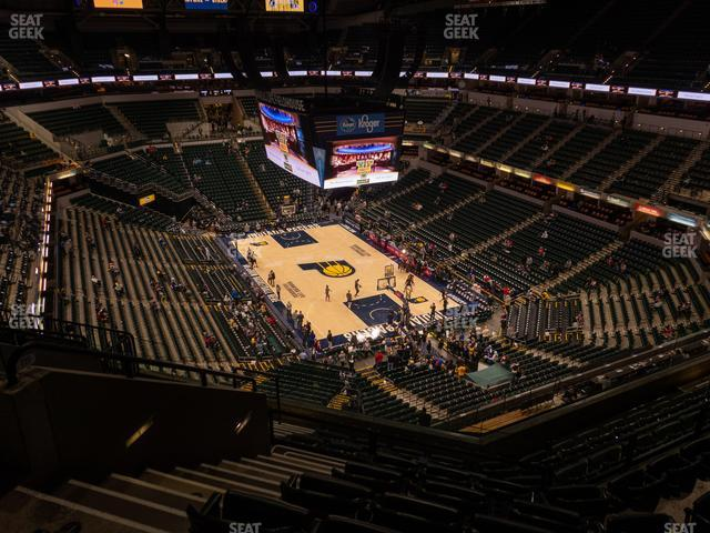 Bankers Life Fieldhouse Section 219 view