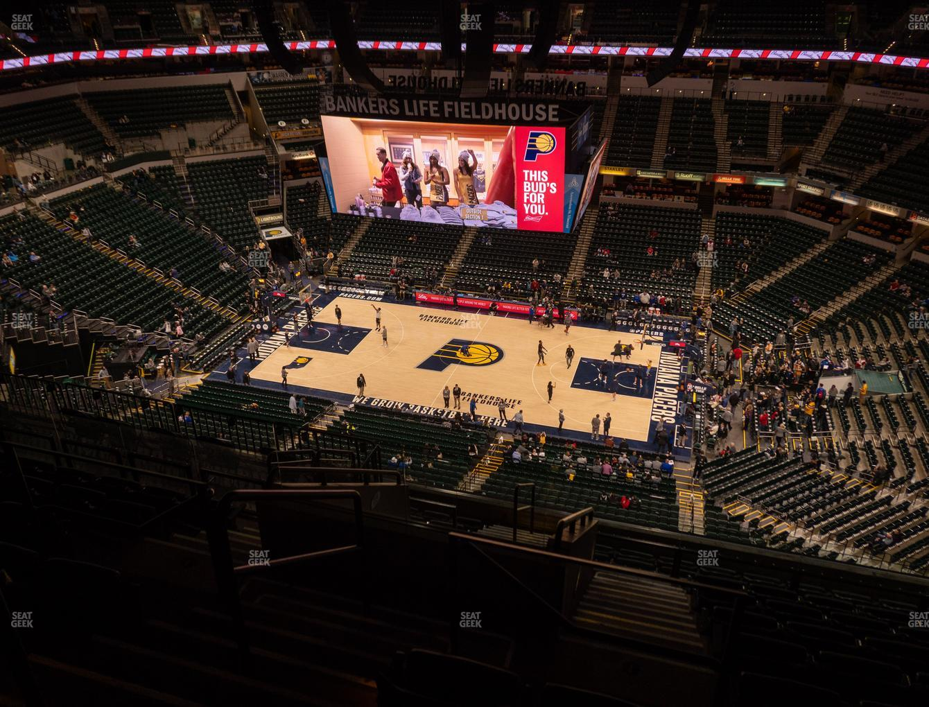 Indiana Pacers at Bankers Life Fieldhouse Section 223 View
