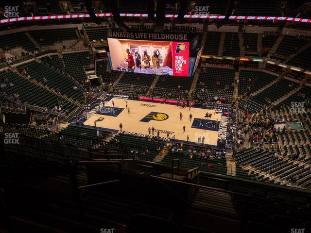Bankers Life Fieldhouse Section 223 view