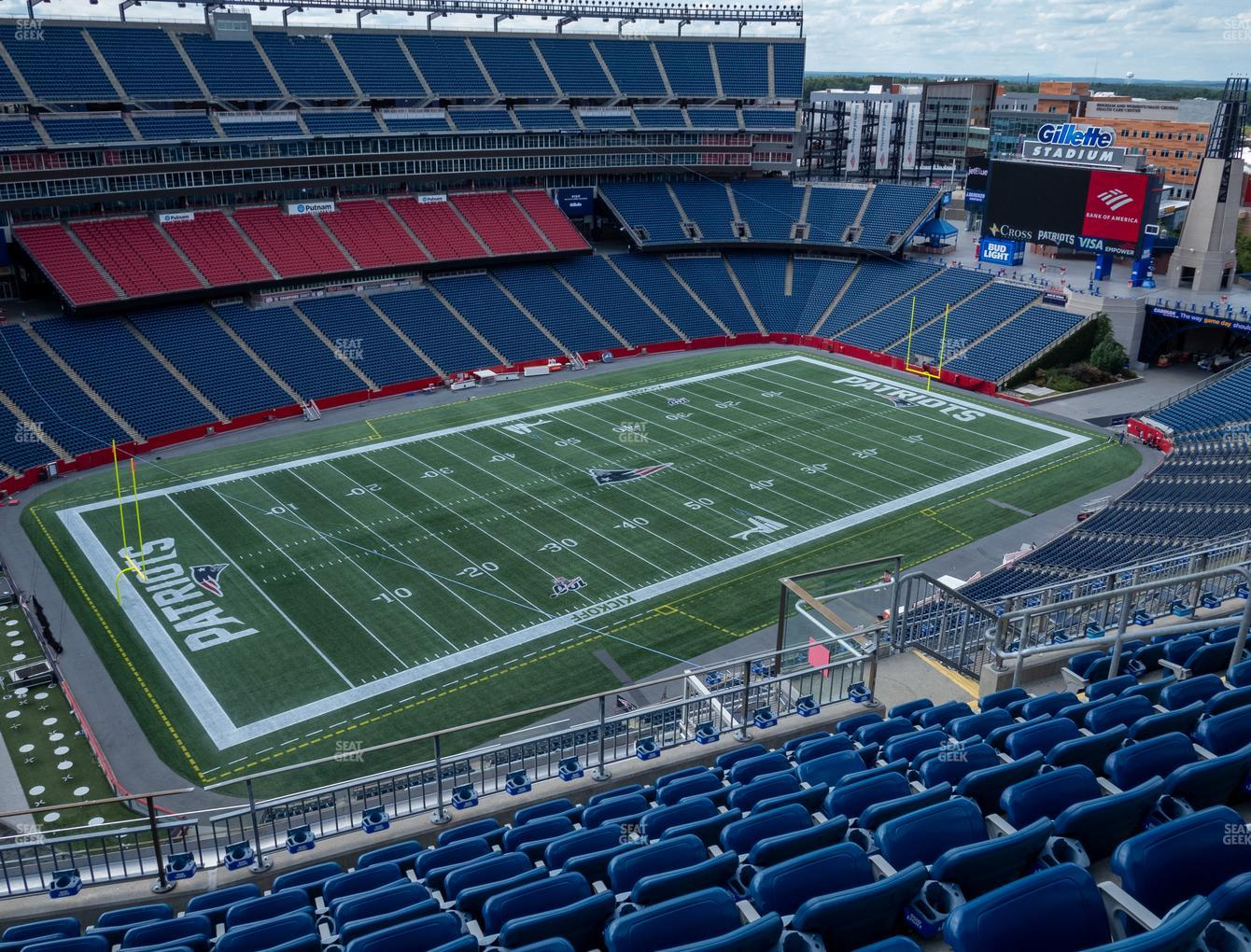 New England Patriots at Gillette Stadium Section 315 View