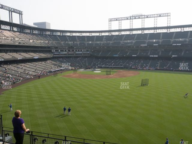 Coors Field Section 204 view