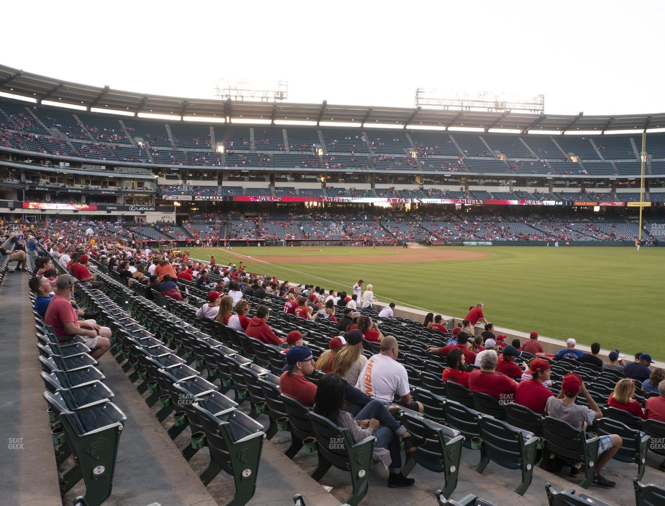 Los Angeles Angels at Angel Stadium of Anaheim Section 131 View
