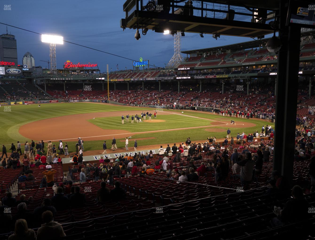 Boston Red Sox at Fenway Park Infield Grandstand 27 View