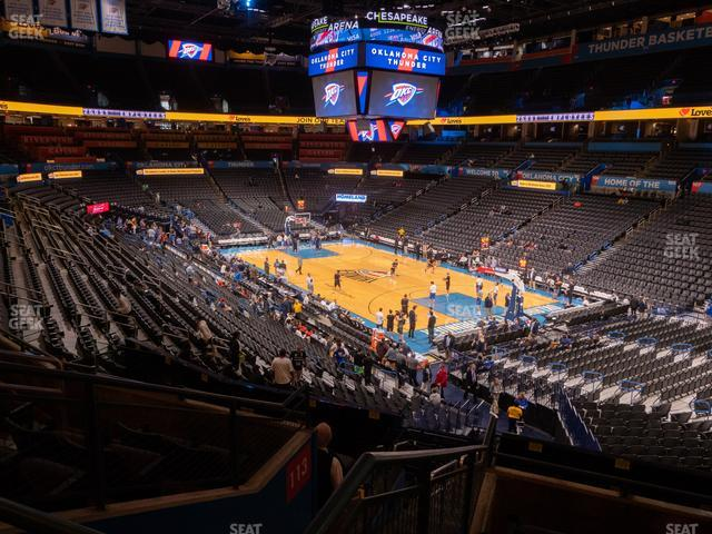 Chesapeake Energy Arena Section 219 view