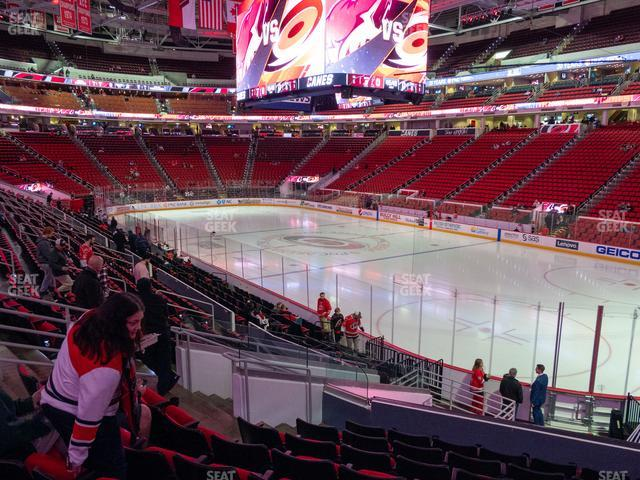 PNC Arena Section 115 view