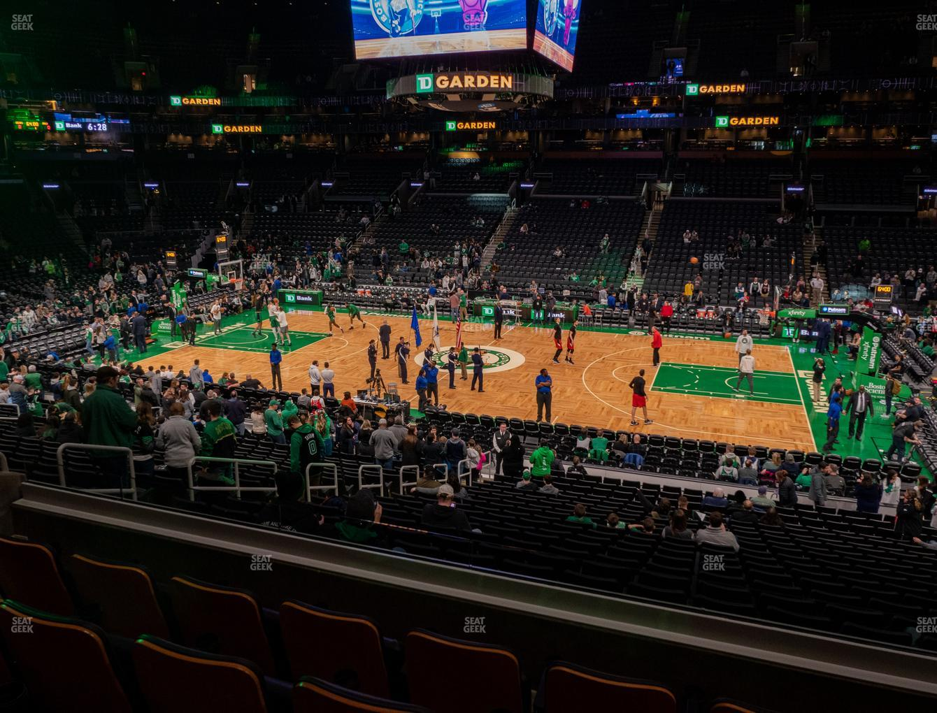 Boston Celtics at TD Garden Section Club 139 View
