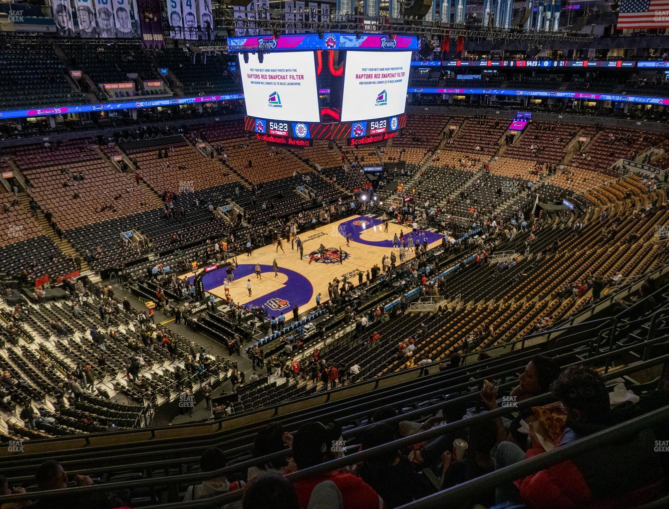 Toronto Raptors at Scotiabank Arena Section 324 View
