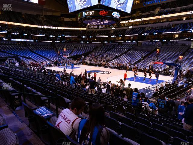 American Airlines Center Section 116 view