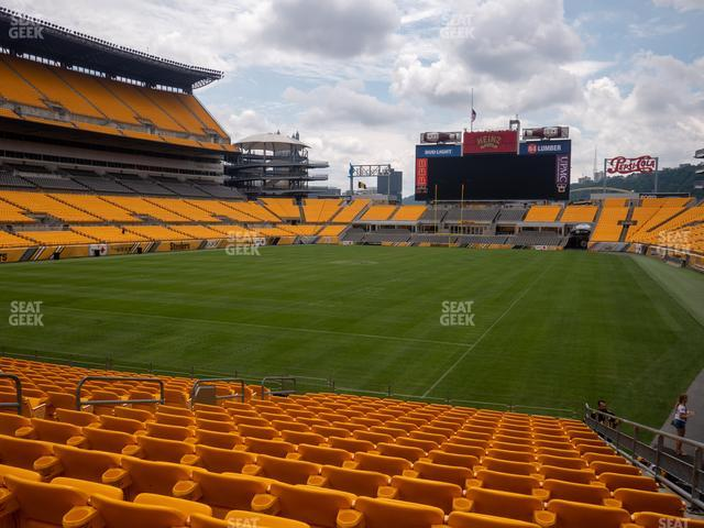 Heinz Field Section 125 view