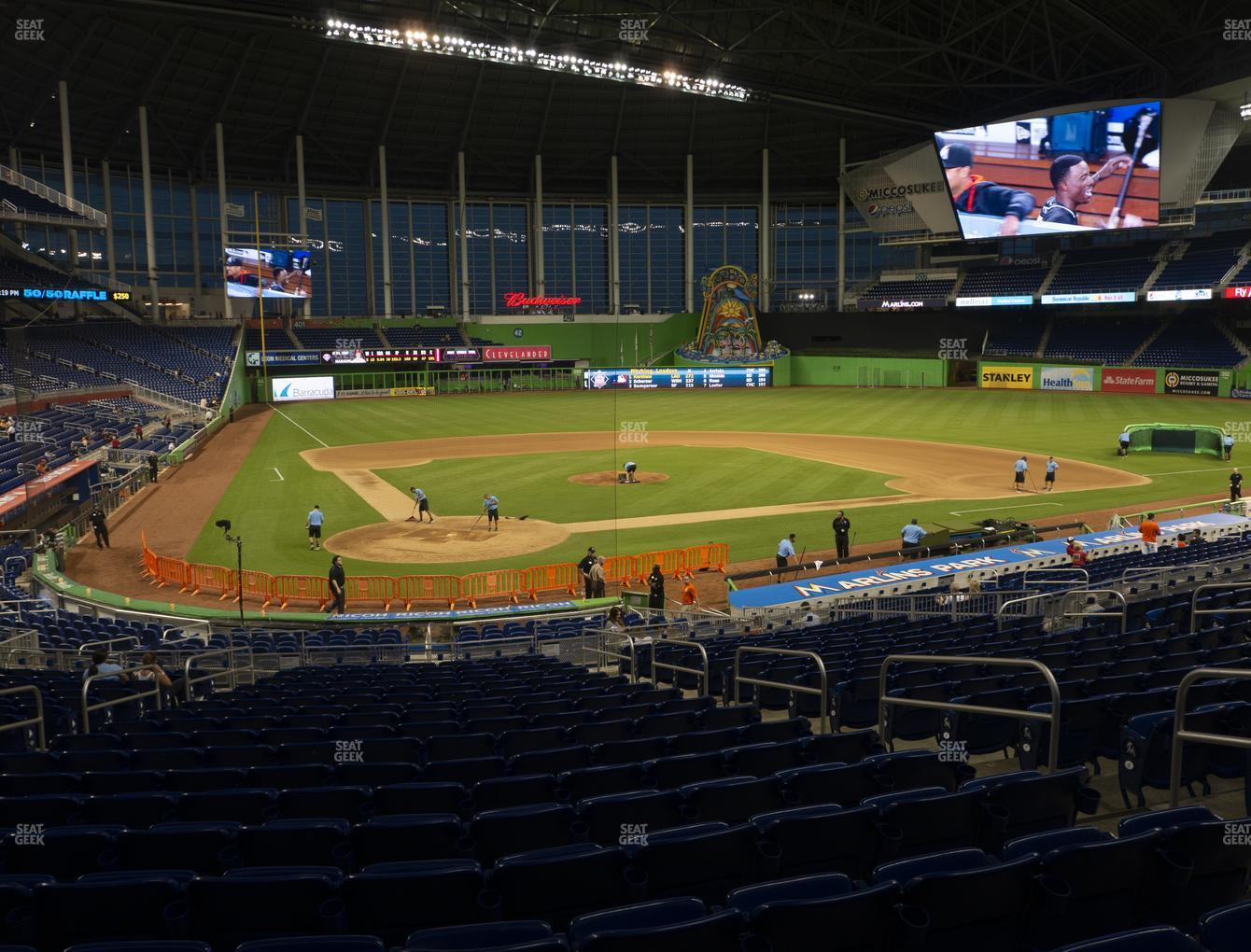 Miami Marlins at Marlins Park Section 12 View