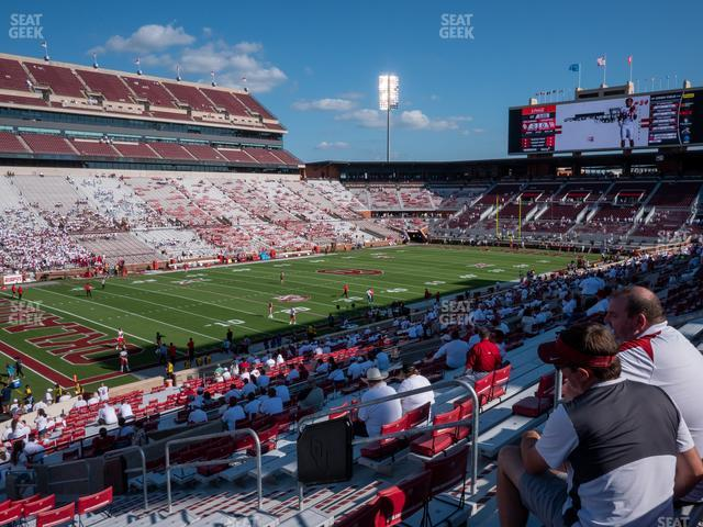 Gaylord Family Oklahoma Memorial Stadium Section 11 view