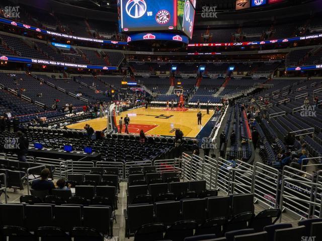 Capital One Arena Section 107 view