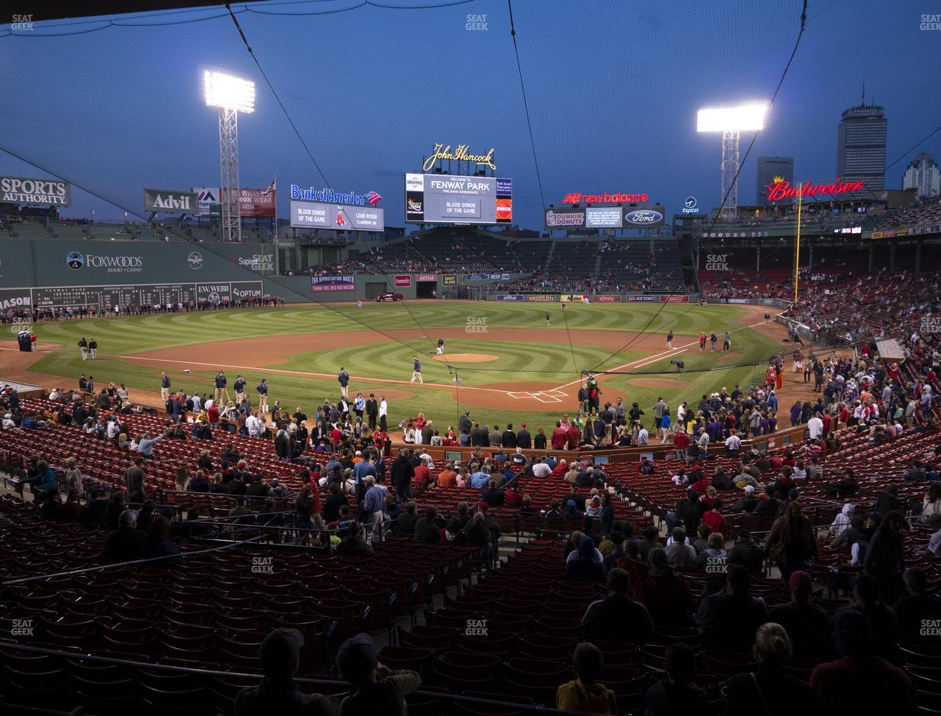 Boston Red Sox at Fenway Park Infield Grandstand 22 View