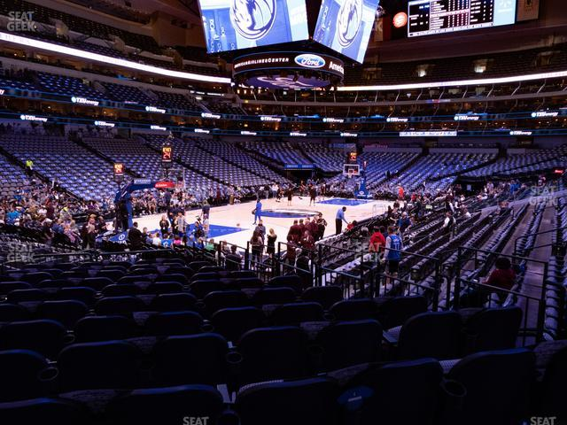 American Airlines Center Section 122 view