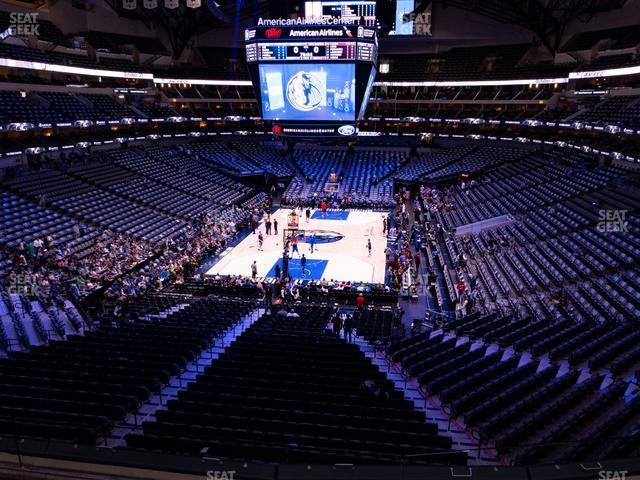 American Airlines Center Section 225 view