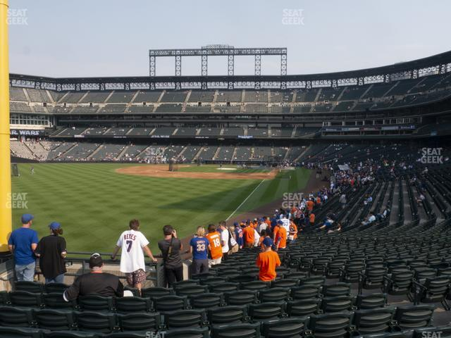 Coors Field Section 150 view