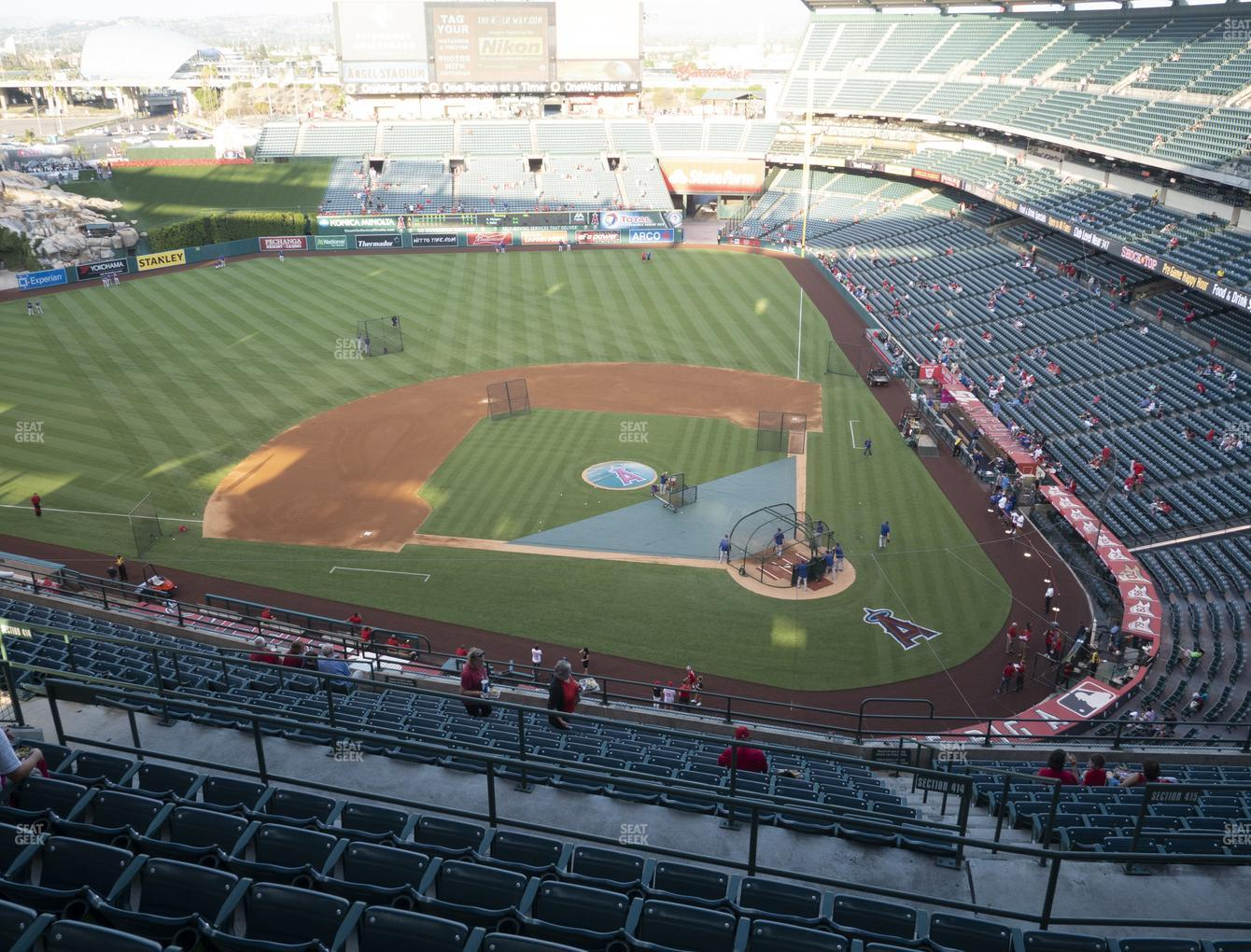 Los Angeles Angels at Angel Stadium of Anaheim Section 516 View