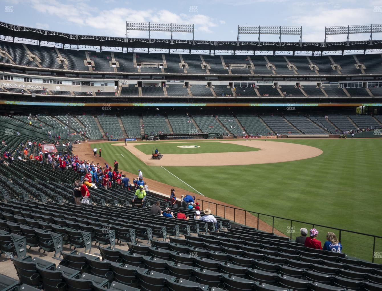 Texas Rangers at Globe Life Park Section 41 View