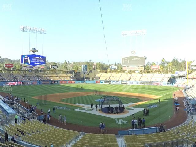 Dodger Stadium Loge Box 105 view
