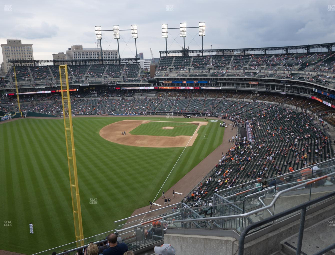 Detroit Tigers at Comerica Park Section 345 View