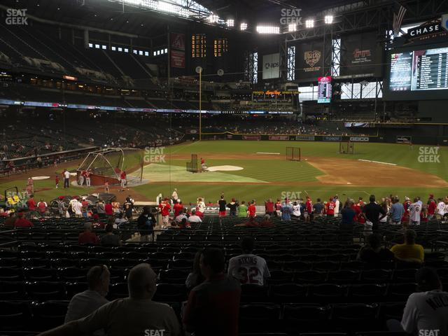 Chase Field Section 118 view