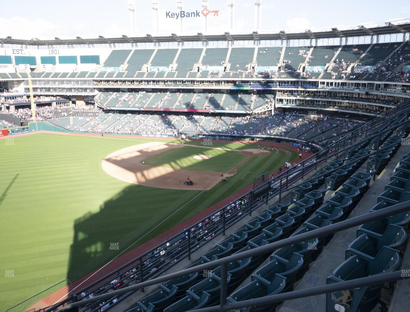 Cleveland Indians at Progressive Field Section 478 View