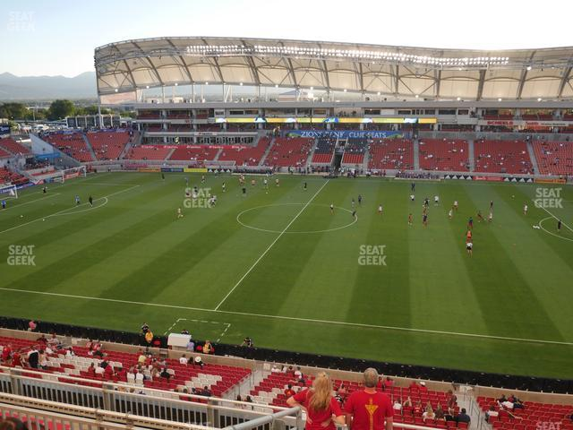 Rio Tinto Stadium Section 237 view