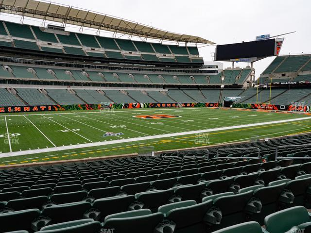 Paul Brown Stadium Section 144 view