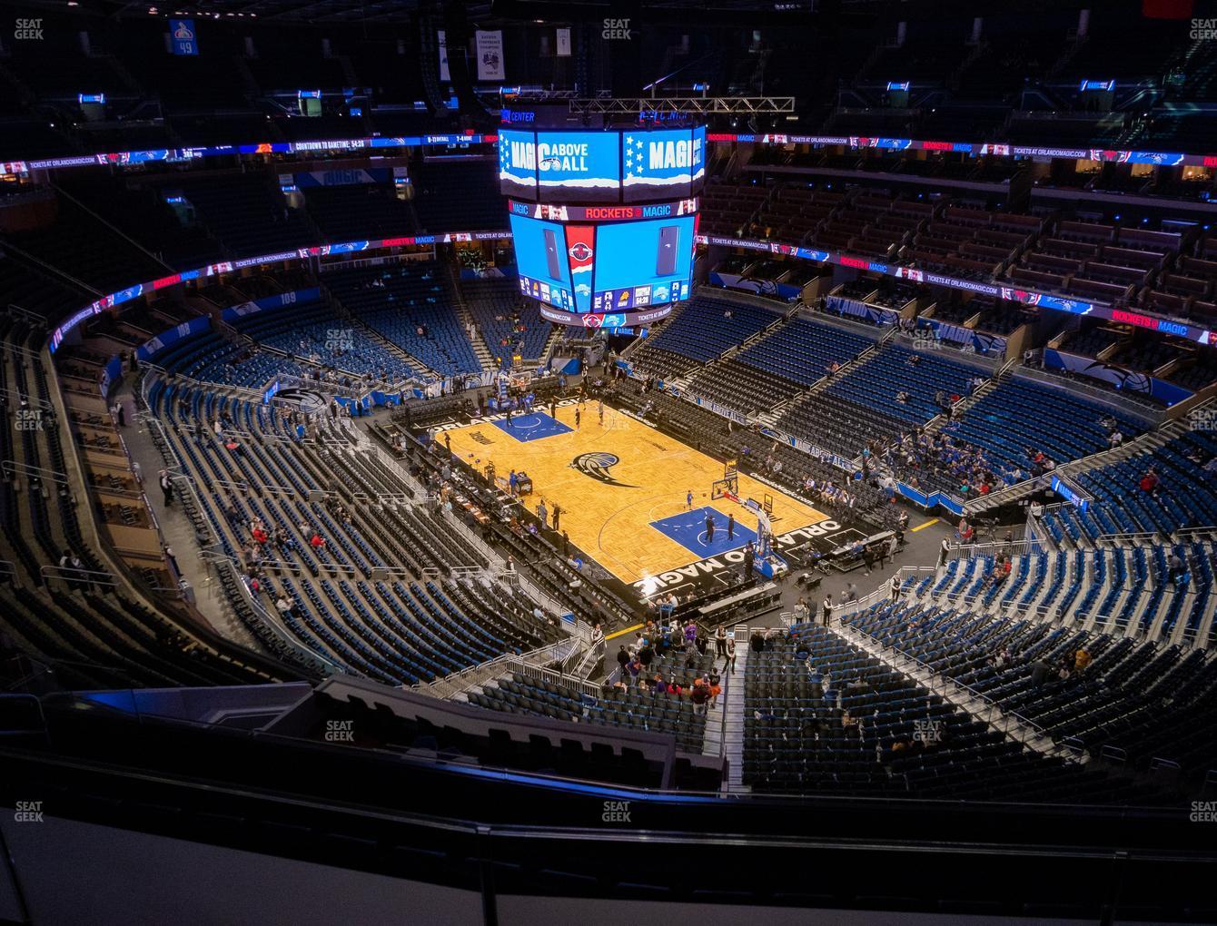 Orlando Magic at Amway Center Section 204 View