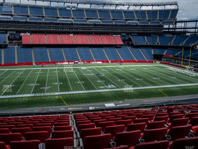 Gillette Stadium Section Club 33 view