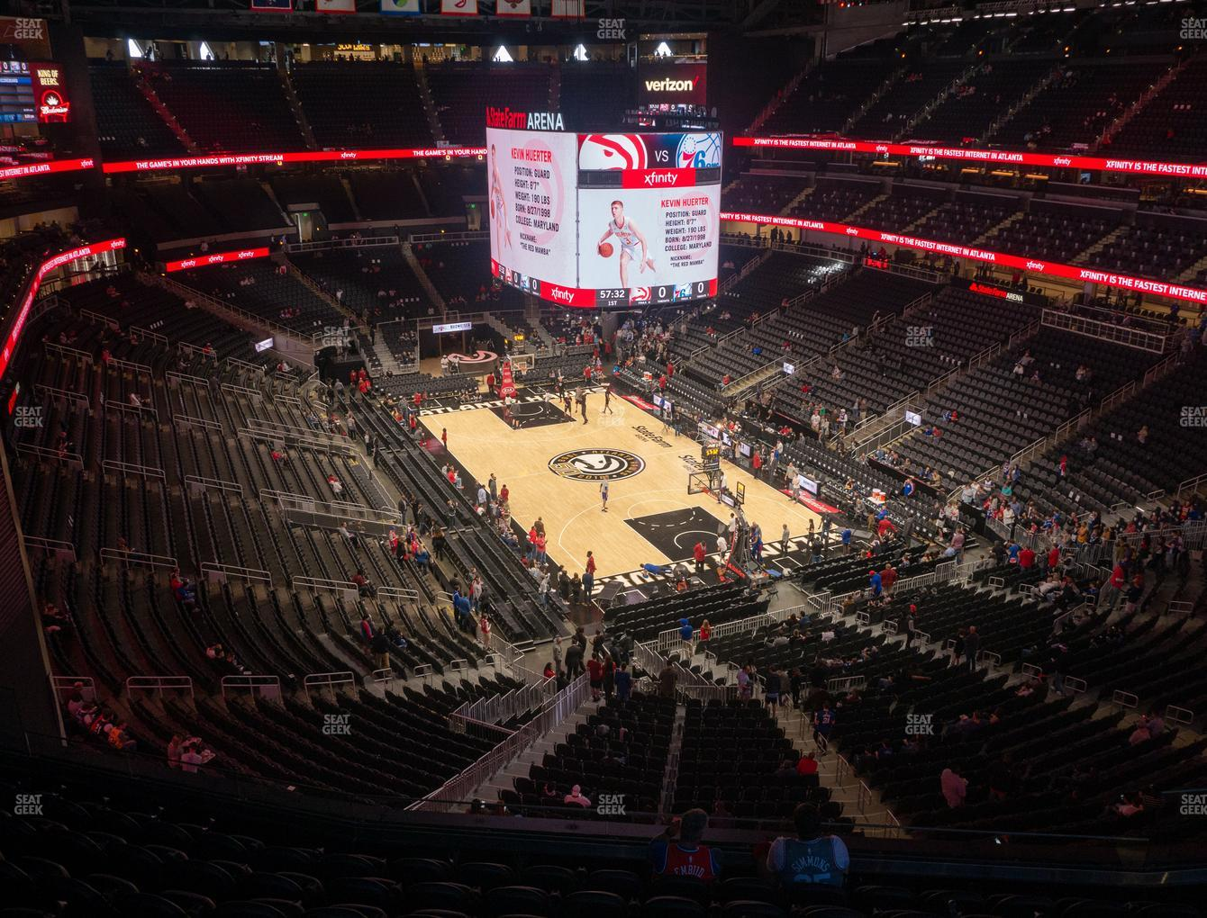 Atlanta Hawks at State Farm Arena Section 205 View