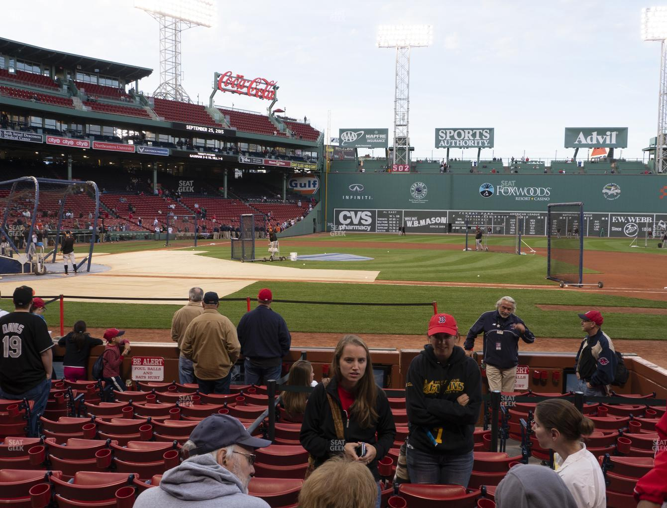 Boston Red Sox at Fenway Park Field Box 30 View