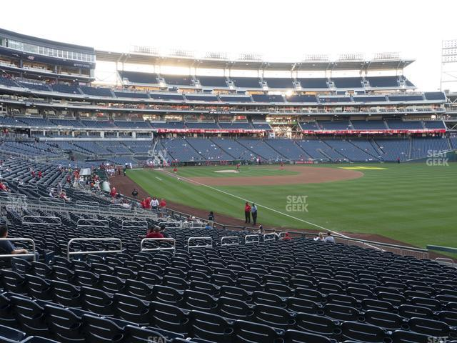 Nationals Park Section 136 view