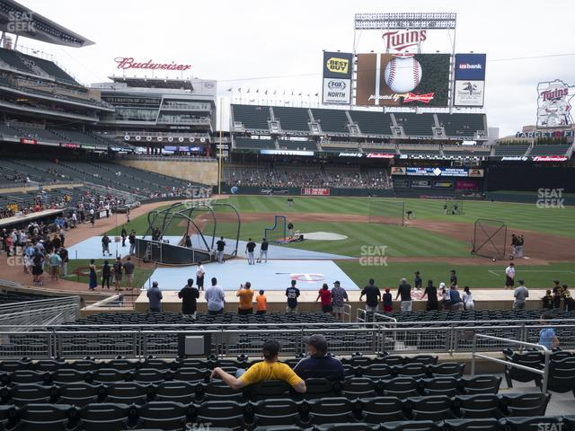 Target Field Section 110 view
