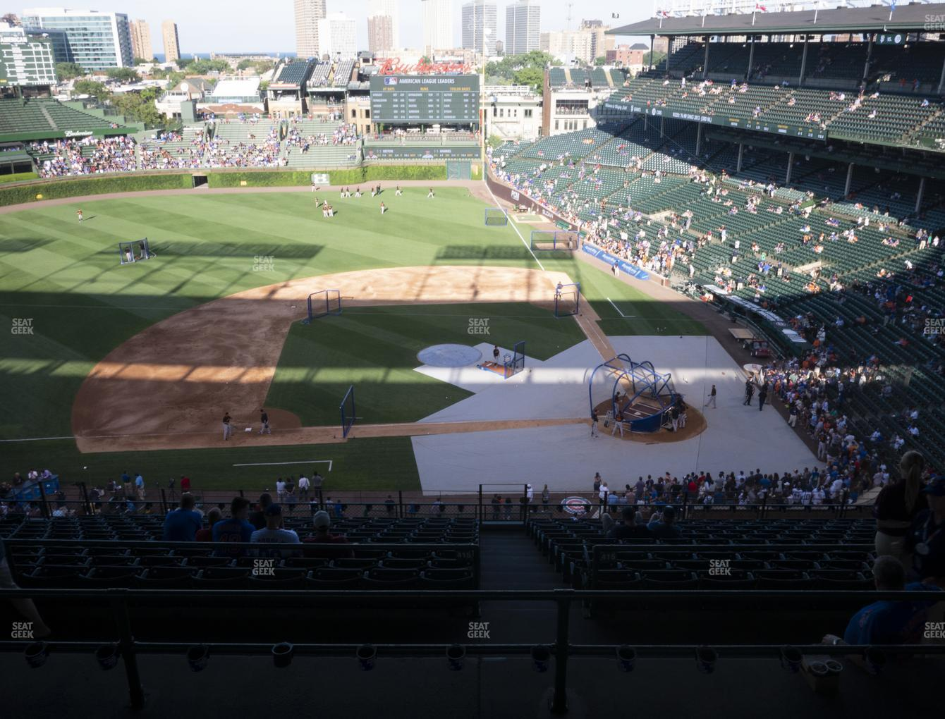 Chicago Cubs at Wrigley Field Section 411 Left View