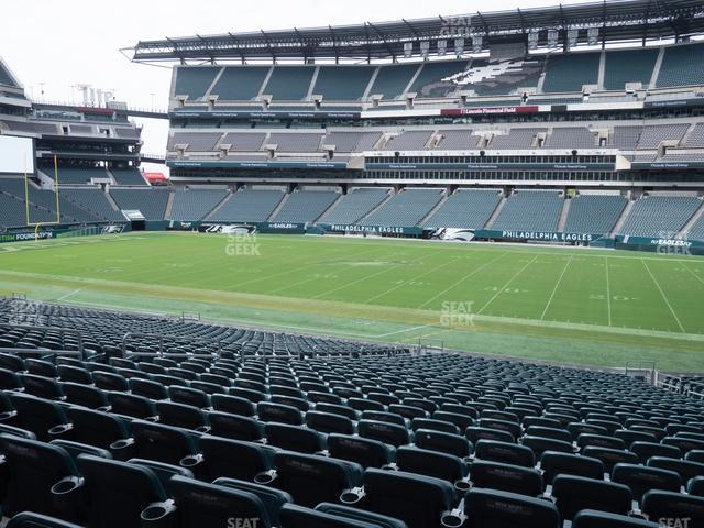 Lincoln Financial Field Section 121 view