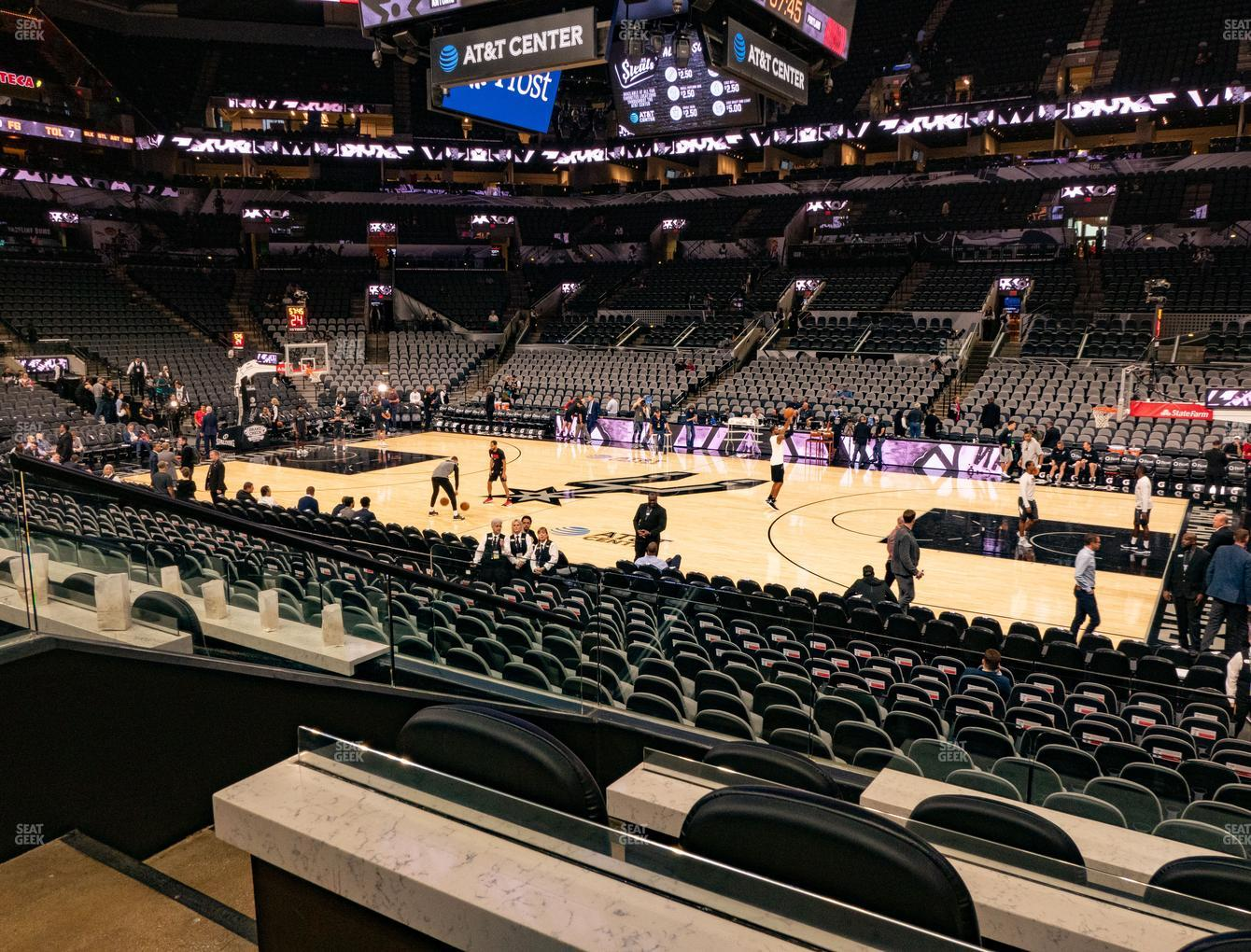 San Antonio Spurs at AT&T Center Super Box 1 B View