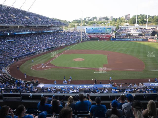 Kauffman Stadium Section 316 view