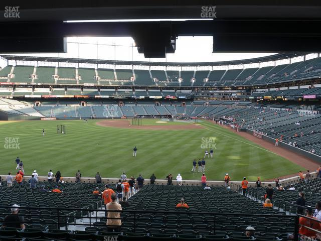 Oriole Park at Camden Yards Section 83 view