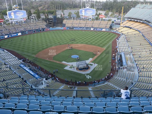 Dodger Stadium Section Top Deck 5 view