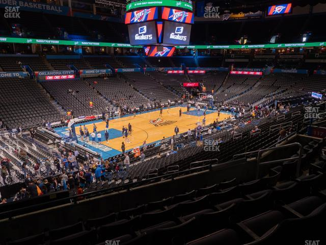 Chesapeake Energy Arena Section 226 view