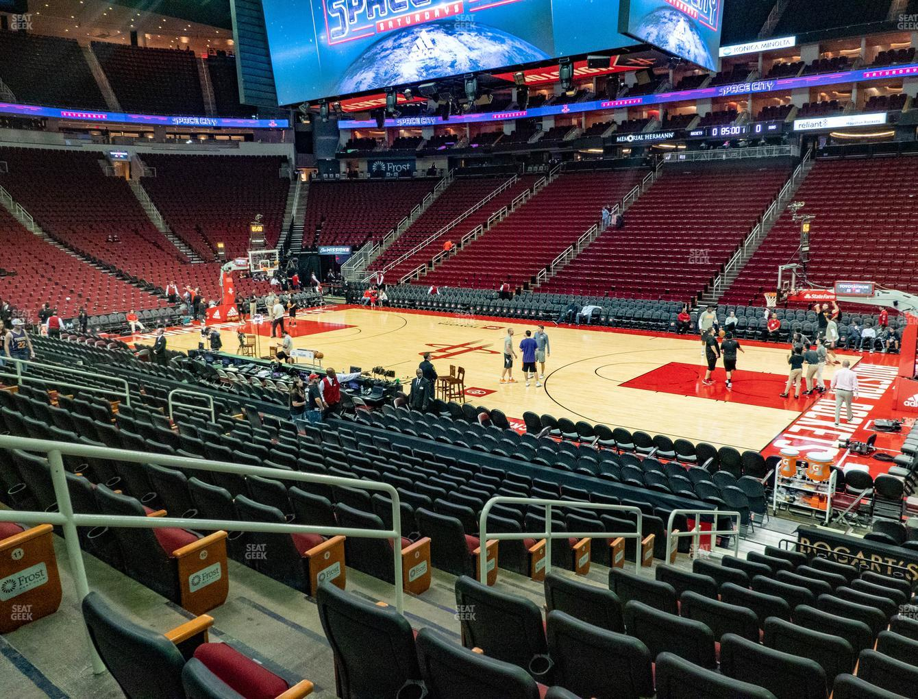 Houston Rockets at Toyota Center Section 118 View