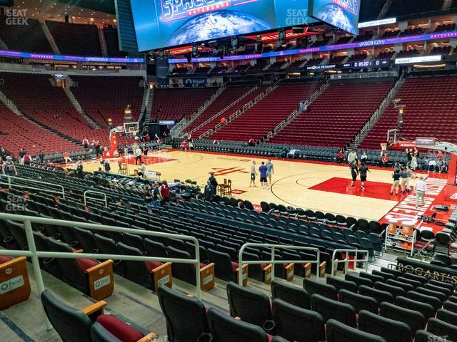 Toyota Center Section 118 view