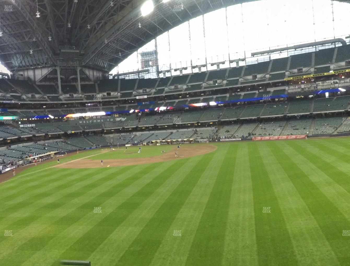 Milwaukee Brewers at Miller Park Section 201 View