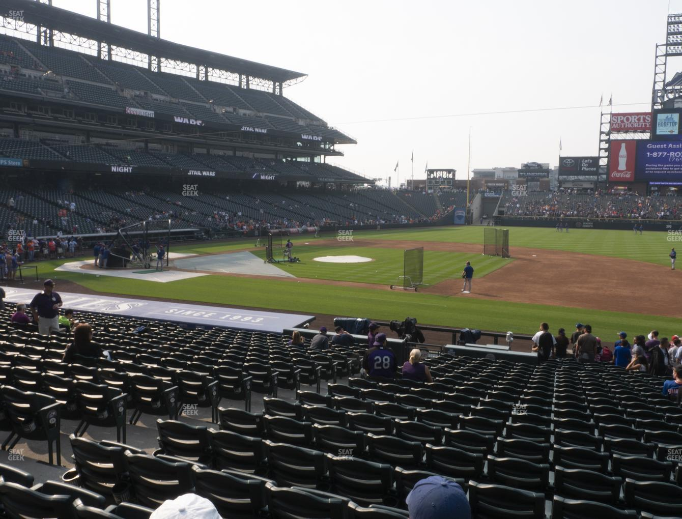 Colorado Rockies at Coors Field Section 121 View
