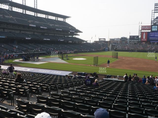 Coors Field Section 121 view