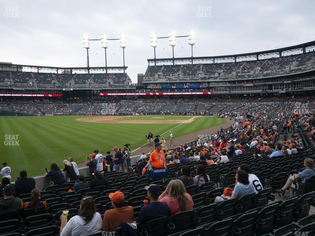 Comerica Park Section 143 view