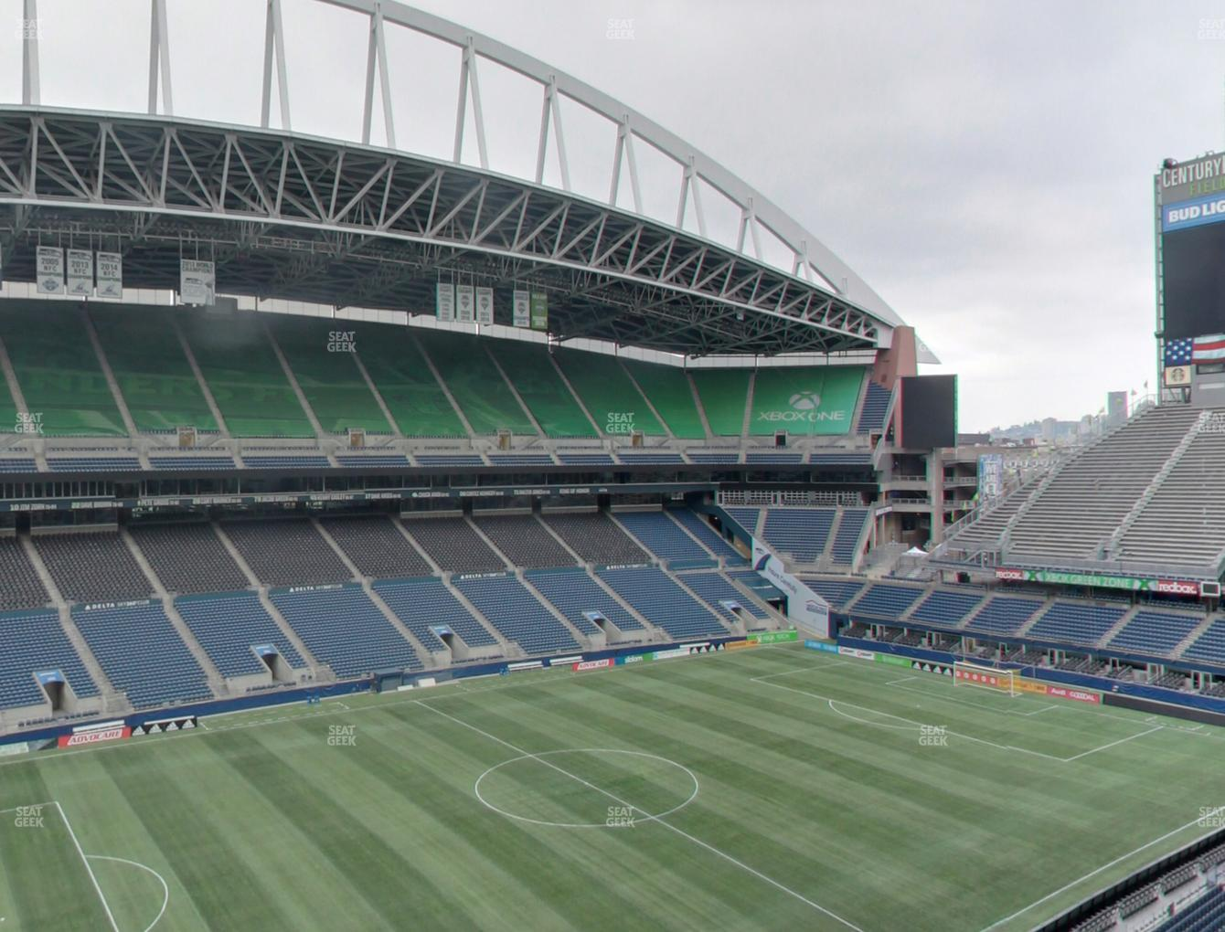Seattle Sounders FC at CenturyLink Field Lower 313 View