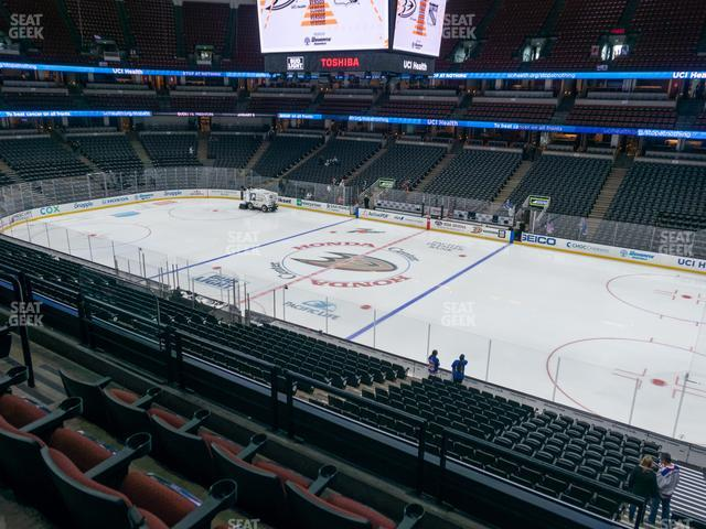 Honda Center Section 318 view