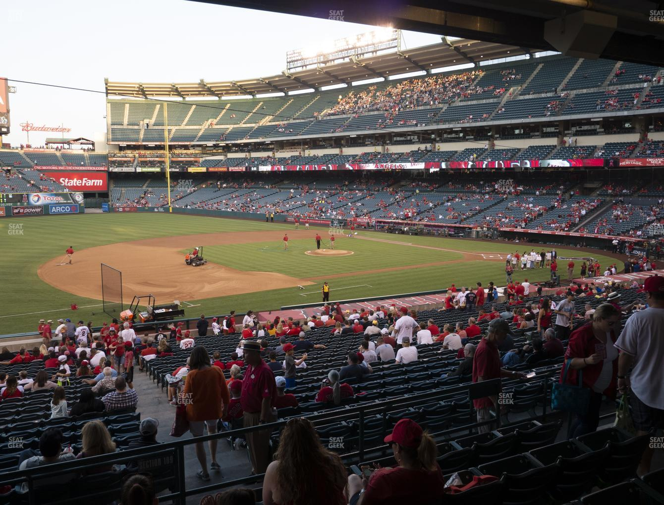Los Angeles Angels at Angel Stadium of Anaheim Section 209 View
